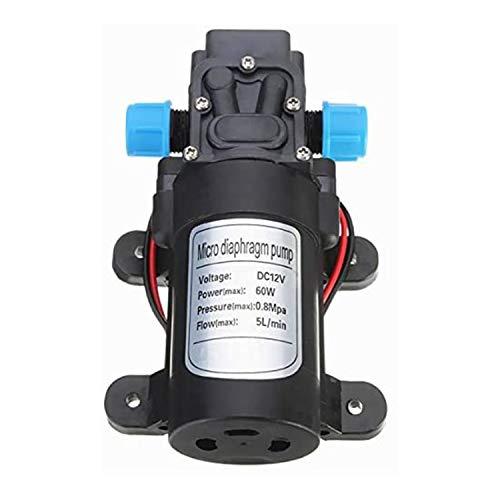 TaiWang Bomba de diafragma eléctrica, 12V 3L / MIN 30W Micro de Alta presión Micro Diafragma Bomba de Agua Interruptor automático Bomba de cebado