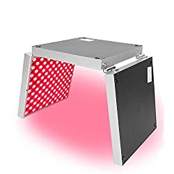 LUCKILYJIE 45W Red LED Light Therapy Panel, Folded Deep Red 660nm and Near Infrared 850nm LED Light Therapy Combo with Timer for Anti Aging, Muscle Recovery, Skin Health