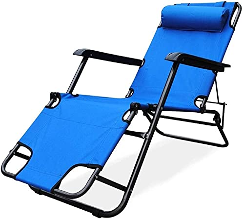 Patio Lounge Chairs Recliner Reclining and Folding Garden Sun Lounger Chair Outdoor Camping Bed Portable Lightweight Armchair InOxford Cloth For Beach Patio Garden Camping Outdoor (Color : B