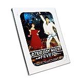 Saturday Night Fever Poster signiert von John Travolta. In