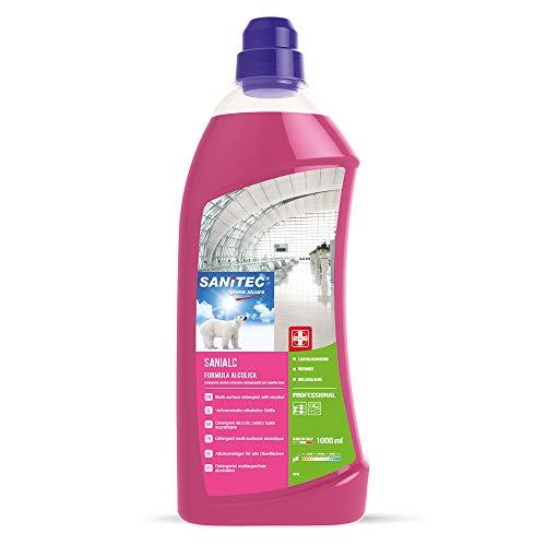 Sanitec Sanialc, Detergente Concentrato Multi Superficie, 1000 ml