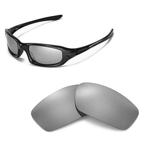 Walleva Ersatzgläser für Oakley Fives 4.0 Sonnenbrille - Mehrfache Optionen (Titanium Mirror Coated - Polarisiert)