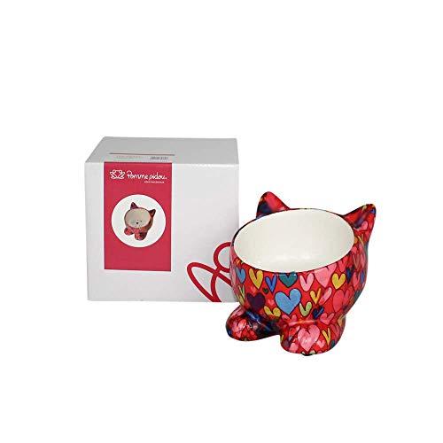Pomme pidou   Futternapf Keramik   Katze Caramel   Rot   Keramik Fressnapf und sehr schönes Dekorationsstück   inkl. GRATIS Geschenkbox
