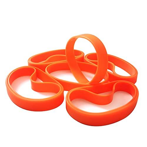 LVNRIDS Pulseras de silicona 100 pcs, pulsera elástica de goma para fiestas deportivas por niños niñas naranja