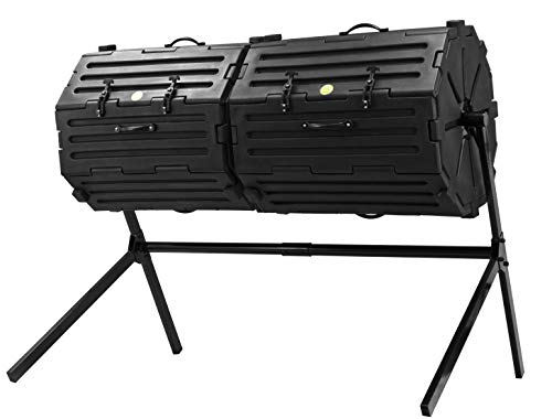 Great Price! Good Ideas CW-INS108-BLK Wizard Insulated Double-Black Composter, Large