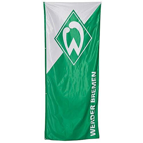 SV Werder Bremen Hissfahne - grün weiß - Fahne, XL Flagge 120 x 300 cm - Plus Lesezeichen I Love Bremen