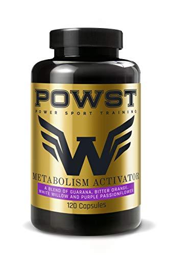 Quemagrasas Potente y Rápido, Termogénico acelerador de Metabolismo, para Hombre/Mujer, 120 Cápsulas para adelgazar. POWST