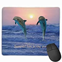 """Bottlenose Dolphin At Sunrise Mouse Pad Non-Slip Rubber Gaming Mouse Pad Rectangle Mouse Pads for Computers Desktops Laptop 9.8"""" x 11.8"""""""
