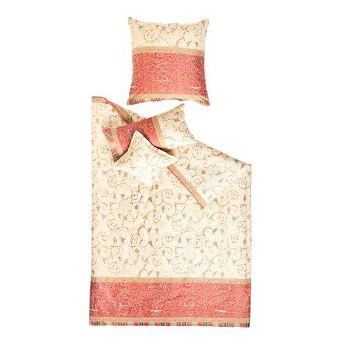 Bassetti Mako-Satin Oplontis., 100 % algodón, beige, cojín 40 x 80 cm