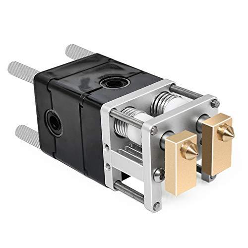 BIlinli Piezas de Impresora 3D Heaterblock Ultimaker 2 + UM2 Kit de Bloque extrusor de Cabezales Dobles Boquillas 0,4 mm Extremo Caliente para filamento de 1,75 mm