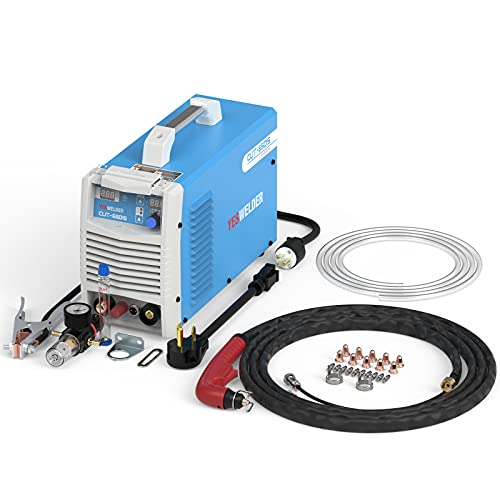 YESWELDER CUT-65DS, 65 Amp Low Frequency Non-Touch Pilot Arc Digital Plasma Cutter, DC Inverter 110/220V Dual Voltage Cutting Machine