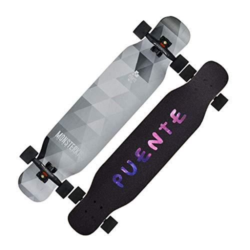 RVTYR Skateboards Tanzkollegs vierrädrigen Skateboard Longboard Skateboard Brush Street Platte geeignet for Jungen und Mädchen Anfänger Jugend Scooter Skateboard ninjago (Color : A)