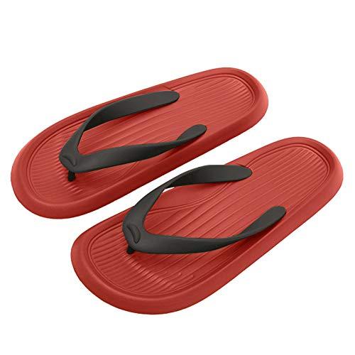 Urijk Flip-Flops für Damen und Herren, dicke Unterseite, Badeschuhe, leicht, weich, rutschfest, leise, für den Innen- und Außenbereich, Meer, Schwimmbad, Hausgebrauch
