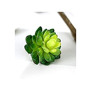 Succulent Artificial Plants Rounded Lotus with Bud Meaty Plant Simulation Potted Landscape Artificial Flower for Home Decoration,2