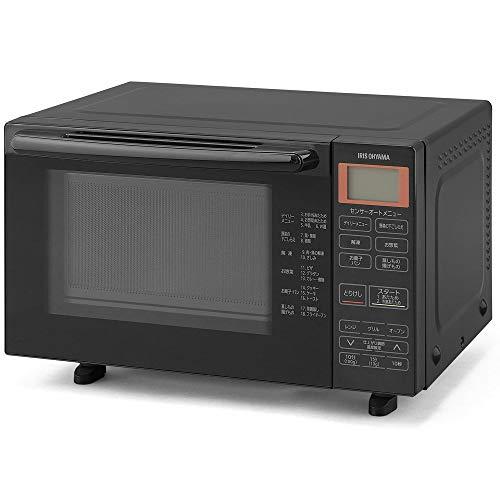 アイリスオーヤマ オーブンレンジ 18L フラットテーブル ヘルツフリー 自動メニュー18種類 ブラック BLMO-F1801-B
