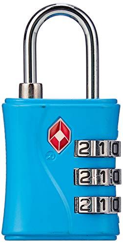 Shatchi Lock TSA Goedgekeurd 3 Reiskoffer Bagage Combinatie Hangslot Verschillende kleuren, Multi