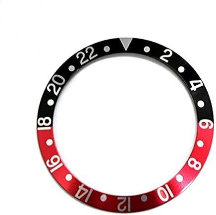圧入式ベゼルインサート(赤/黒)★ROLEX GMT用 【当店オリジナル商品(※全5タイプ)】