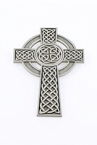 Pewter Knotted Celtic Wall Cross with Antique Finish, 8 Inch