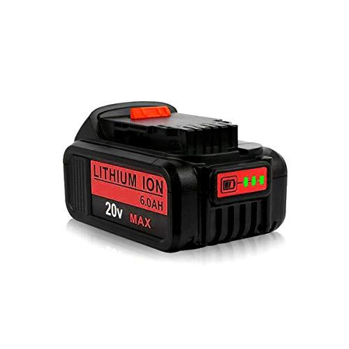 20V 6.0Ah Replace for Dewalt 20V Lithium XR MAX Battery DCB204 DCB200 DCB206 DCB205-2 DCB201 DCB203 20V DCD/DCF/DCG/DCS Compatible with Dewalt 20v Series Tools Batteries