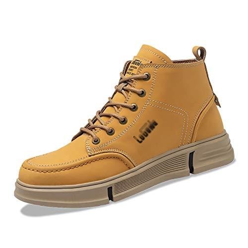 Zapatos de seguridad Zapatos de trabajo con cordones a prueba de agua de cuero para hombre, soldadura de soldador Botas de seguridad para llama ignífuga, punco a prueba de perfeccionar zapatos industr