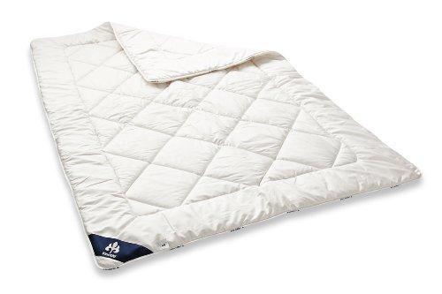 Badenia Bettcomfort Irisette Merino wash Steppbett Duo mit Baumwollbezug für den Sommer, 135 x 200 cm