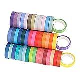 harayaa 60 rollos coloridos Washi Tape Set cinta de regalo para DIY pegatinas decorativas para álbumes de recortes pegatina de álbum de fotos cinta adhesiva