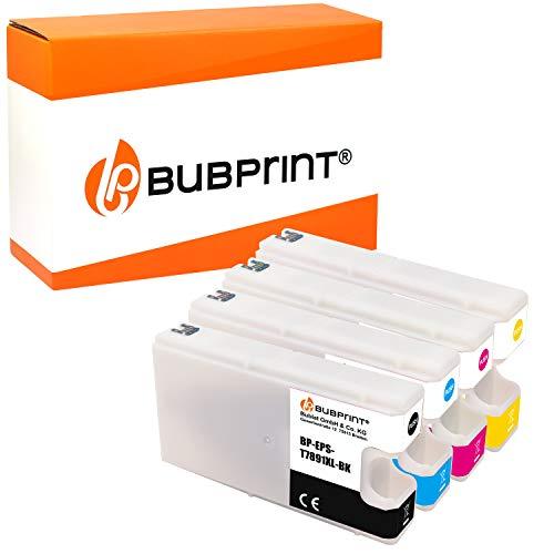 Bubprint 4 Cartucce d'inchiostro compatibili per Epson T7891 T7892 T7893 T7894 WorkForce Pro WF-5110DW WF-5190DW WF-5620DWF WF-5690DWF WF-5100 WF-5600 BK C M Y