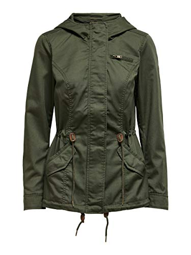 ONLY Damen ONLNEWLORCA Spring Canvas CC OTW Parka, Forest Night, XS