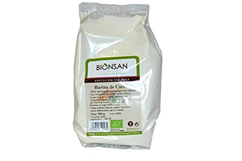 Bionsan Harina de Coco Ecológica - 3 Paquetes de 500 gr - Total: 1500 gr