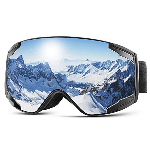 Extra Mile Gafas de Esquí,Gafas Esqui Snowboard para Hombre Mujer Doble Lente Anti-Niebla 100{ba5d86edcbcdc3a84ef565528f9eb5f73ebcae51322229e72a1742a03a97930d} UV400 Protección Esférica Máscara Esquí OTG con Gran Campo de Visión Gafas