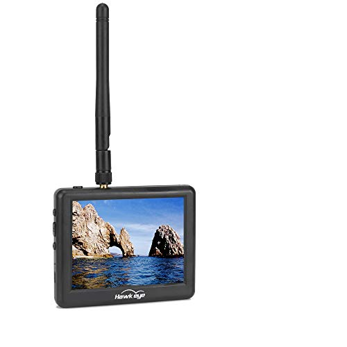 FPV Monitor 5.8G with DVR LCD 3.5Inch LCD Monitor/Display Screen Receiver Monitor for FPV Drone Quadcopter with Wireless Receiver …