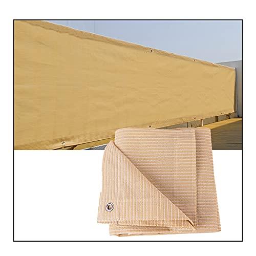 Toldo Malla Sombra, Paño Malla Sombreado Invernadero 90% Resistente Rayos UV, Protector Privacidad Balcones Al Aire Libre, 1 Metro 1 Orificio, Tamaño Personalizado ( Color : Beige , Size : 0.9cmx4cm )