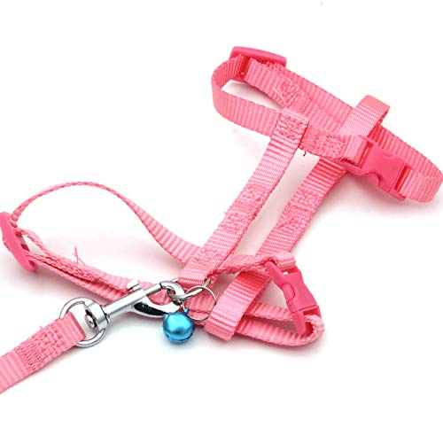 KLOUD City Adjustable Pet Rabbit Harness Leash Lead with Small Bell