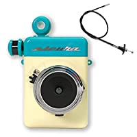 Escura Instant 60s《エスクーラ 手動式 アナログ インスタントカメラ》 (ブルー) Instax チェキフィルム使用 レリーズ付き