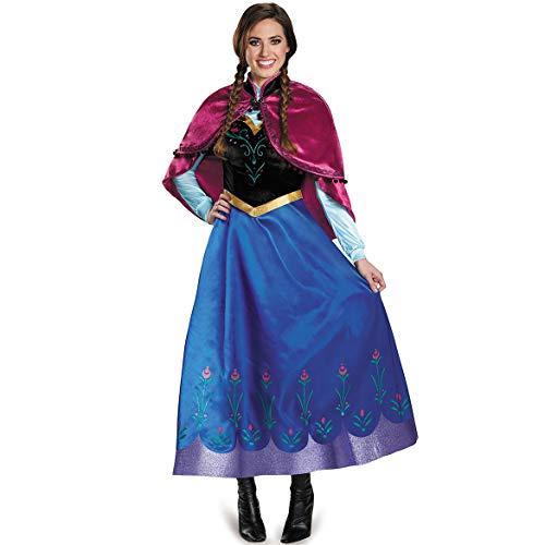 DASENLIN Adulti Donne Costume, Costume di Halloween, Sexy Ice E Neve Anna Princess Dress, Gioco di Ruolo Uniforme,M