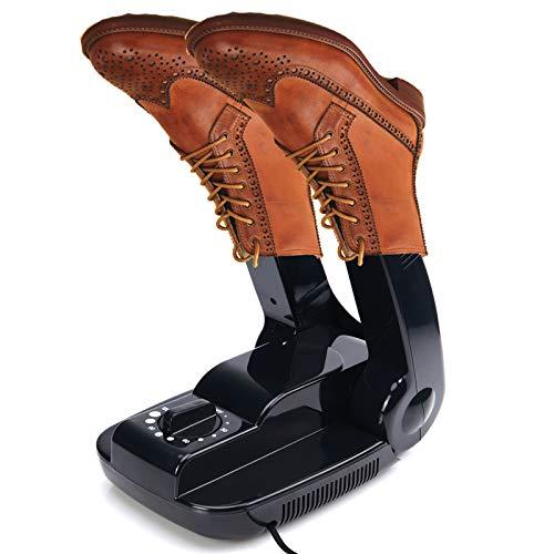 JIMITOTO Secador de Zapatos secador de Botas, Secado de Zapatos Tiempo Ajustable para Botas Calcetines Guantes (Negro)