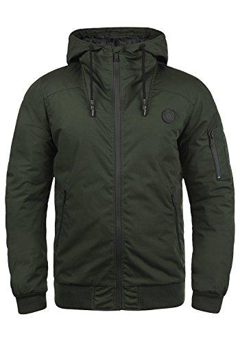 !Solid Tilly Sporty Herren Übergangsjacke Herrenjacke Jacke gefüttert mit Kapuze, Größe:L, Farbe:Climb Ivy (3785)