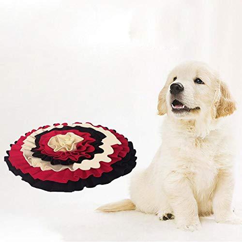 FOSTUDORK Große Blumen-Hundedecke Hundenase Füttern Trainingsmatte Hundearbeit Suche Pad Ausbildung Pet Smelling Fähigkeiten DIY Decke, C, M