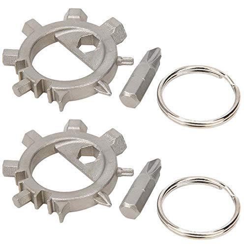 Aço inoxidável 304 fácil de transportar e armazenar Chave de fenda 12 em 1, ferramenta de reparo de bicicleta Octopus, chave de fenda polvo cinza prateado de acabamento fino, para ciclismo