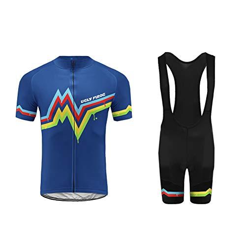 Uglyfrog Maillot Cyclisme Homme Pro Tenue Complete Velo Été Vêtement VTT Manches Courtes