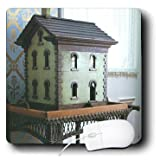 3drose LLC 20,3x 20,3x 0,6cm Maus Pad, blau Puppenhaus (MP 34890Kratzbaum 1)