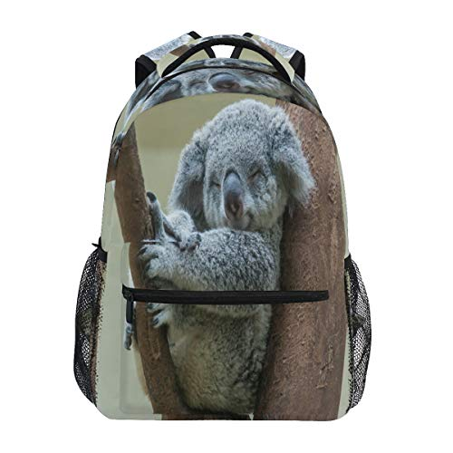 LUCKYEAH Animal Koala Tree Backpack School Book Bag for Teen Boy Girl Kids Daypack Rucksack for Travel Camping Gym Hiking