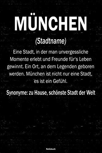 München Notizbuch: Definition von der Stadt München Journal DIN A5 liniert 120 Seiten Geschenk