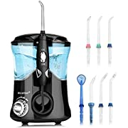 Upgrade Anti Leakage Water Flosser, Nicefeel 600ml Capacity Professional Quiet Design 10 Adjustable Presure Setting Water Dental Flosser for Home & Travel, Oral Irrigator with 7 Multifunctinal Tips