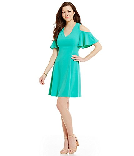 Antonio Melani Lydia Crepe Cold Shoulder Dress Jungle Green Size 0