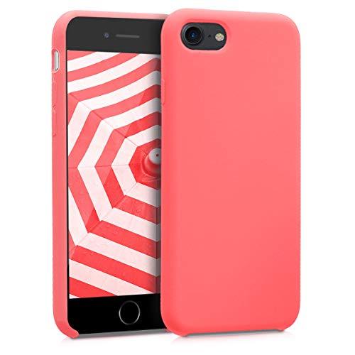 kwmobile Cover Compatibile con Apple iPhone 7/8 / SE (2020) - Custodia in Silicone TPU - Back Case Protezione Cellulare Corallo Fluorescente