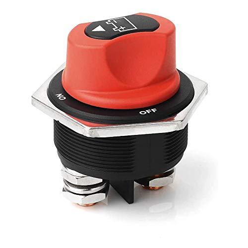 WIWIR Batterie-Trennschalter Batteriehauptschalter MAX DC 32V 300A CONT 450A INT Wasserdicht Auf/Aus Autobatterie Isolator Schalter für Marine Boat Caravan Car Vehicles Yacht Bus