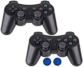 Boowen Wireless Controllers for PS3,Bluetooth Gamepad Joysticks for Playstation 3, Six-axis Motion Game Control with Charging Cord
