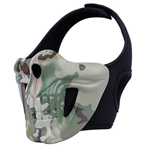 HKDJ-Half Gezicht Beschermend Masker Ideaal Masker voor Halloween, Cosplay, Kostuum Party En Film Prop,One Size Past Meest voor Outdoor Airsoft/Paintball/CS Game/Hunting/Shooting