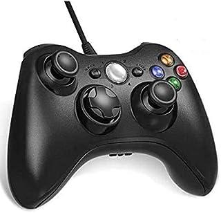 Diswoe XBOX 360コントローラー 有線 ゲームパッド Xbox&Slim PCコントローラー 人体工学 二重振動 Windows 7適用